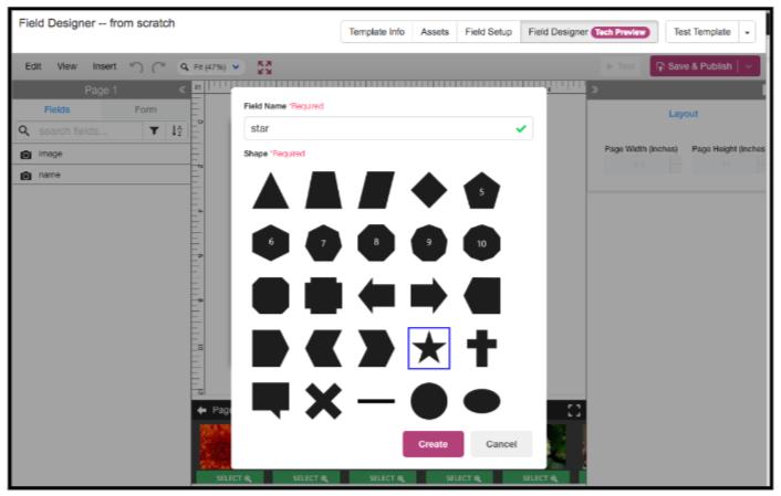 Selecting Shapes